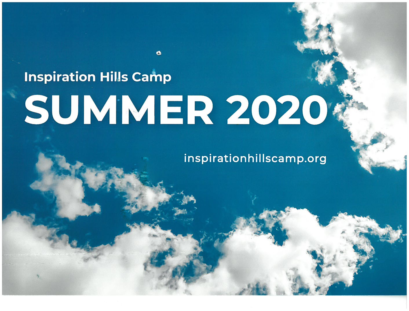Inspiration Hills Camp 2020 Schedule