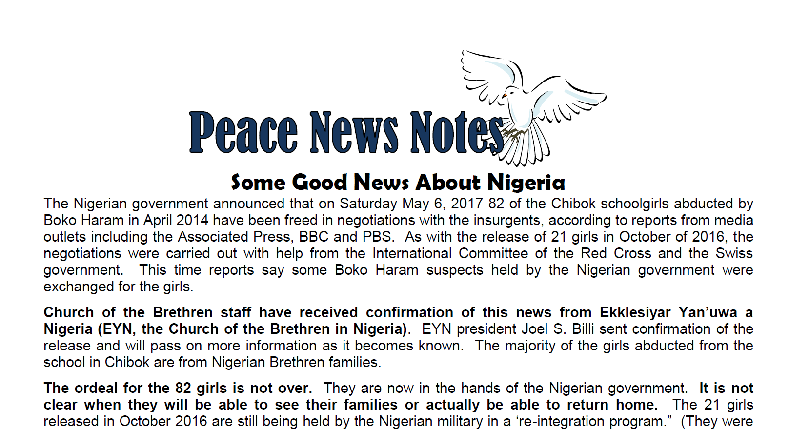 Some Good News from Nigeria